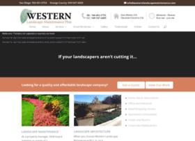 westernlandscapemaintenance.com