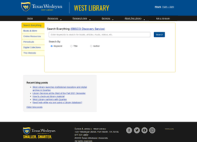 westlibrary.txwes.edu