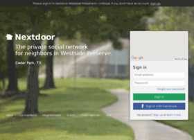 westsidepreserve.nextdoor.com