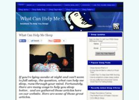 whatcanhelpmesleep.com