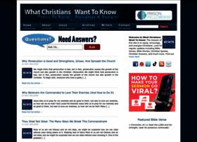 whatchristianswanttoknow.com