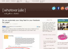 whateverjulie.com