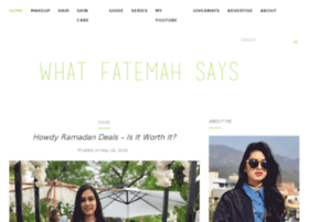 whatfatemahsays.com