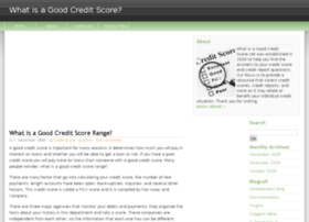whatisagoodcreditscore.net