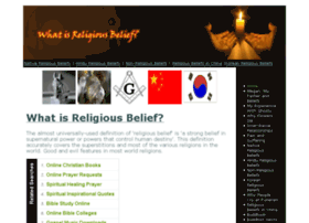 whatisreligiousbelief.com