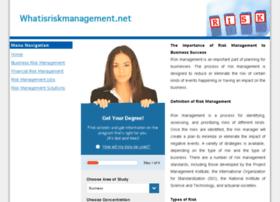 whatisriskmanagement.net