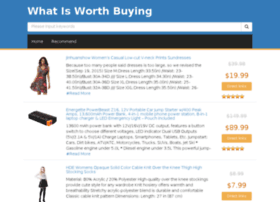 whatisworthbuying.com