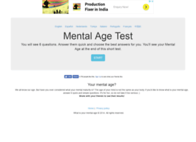 whatisyourmentalage.com