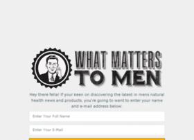 whatmatterstomen.com