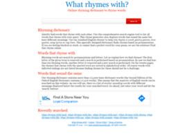 whatrhymeswith.info