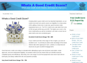 whatsa-goodcreditscore.com