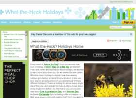 whattheheckholidays.wikifoundry.com