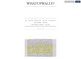 whatupwally.tumblr.com