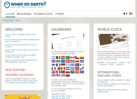 whenonearth.com