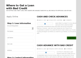 wheretogetaloanwithbadcredit.com