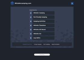 whistlercamping.com