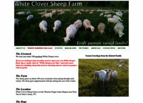 whitecloversheepfarm.com