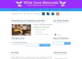whitedovememorials.info