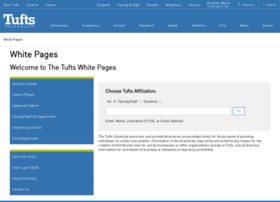 whitepages.tufts.edu