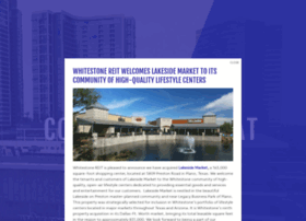 whitestonereit.com