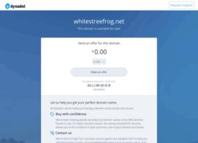 whitestreefrog.net
