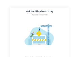 whittierhillsoilwatch.org