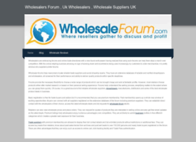 wholesalersforum.weebly.com