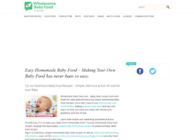 wholesomebabyfood.com