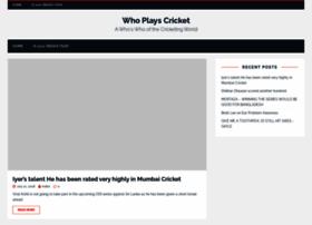 whoplayscricket.com