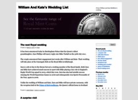 williamandkatesweddinglist.wordpress.com