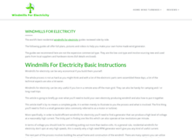 windmills-for-electricity-plans.com