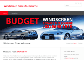 windscreenpricesmelbourne.com.au