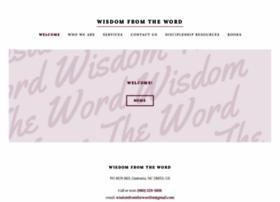 wisdomfromtheword.org