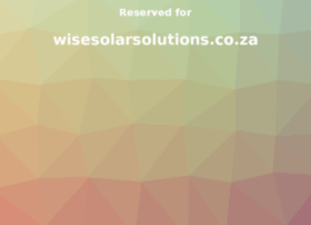 wisesolarsolutions.co.za