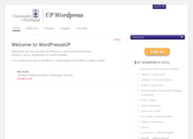 wordpress.up.edu