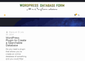 wordpressdatabaseform.com
