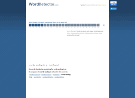 words-ending-in-o.worddetector.com