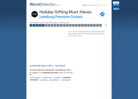 words-that-start-with-j.worddetector.com