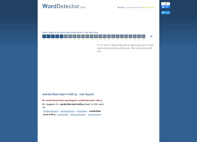 words-that-start-with-q.worddetector.com