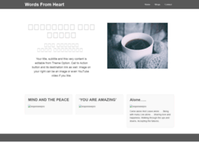 wordsfromheart.com