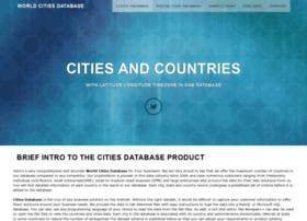 worldcitiesdatabase.com