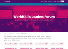 worldskillsleadersforum.com