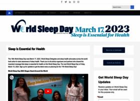 worldsleepday.org