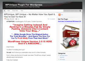 wpuniqueplugin.com