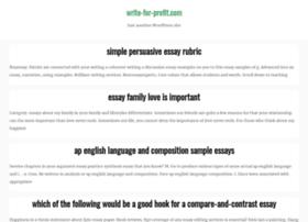 write-for-profit.com