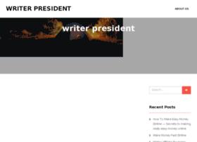 writerpresident.com