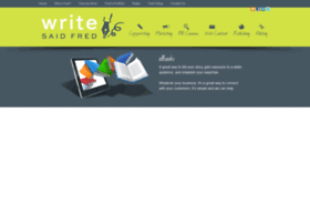 writesaidfred.com