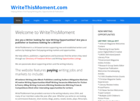 writethismoment.com