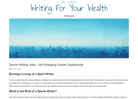writingforyourwealth.com