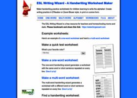 com info Make Handwriting Worksheets   ESL Writing Wizard T851v88Q